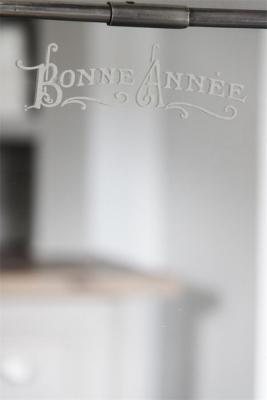 Schablone mit französischem Schriftzug Bonne Annee