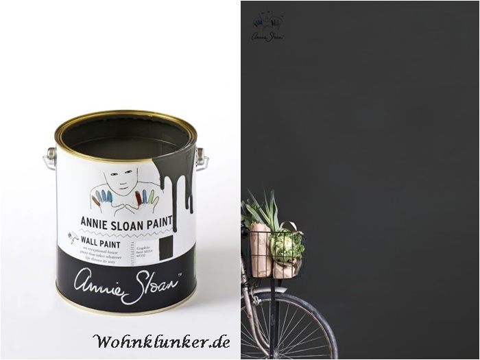 wall paint wandfarbe annie sloan 2 5 liter graphite. Black Bedroom Furniture Sets. Home Design Ideas