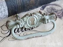 Wundervoller Beschlag, Eisen mit Schlüsseloch, türkisfg