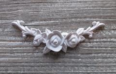 Detailreiches Rosenornament zum Weiterverarbeiten