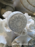 Grau-weißer Porzellanknopf, Möbelknopf