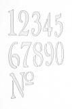 Schablone mit Zahlen 0-9, Din A4