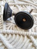Schwarzer Porzellan - Möbelknopf, Madam Stoltz