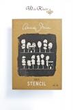 Stencil Schablone - Annie Sloan Chalk Paint *Trees* A3